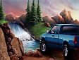 Pickup truck art, illustration by Garry K. Williams