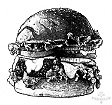 burger rendering by Garry K. Williams